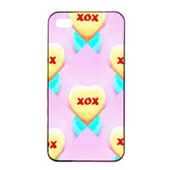 Pastel Heart Apple iPhone 4/4s Seamless Case (Black)
