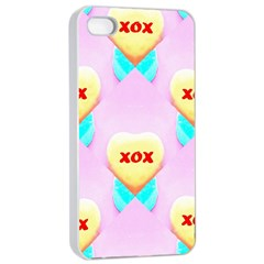 Pastel Heart Apple Iphone 4/4s Seamless Case (white)