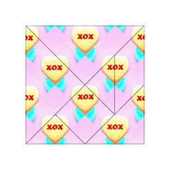 Pastel Heart Acrylic Tangram Puzzle (4  X 4 )