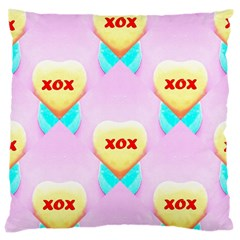 Pastel Heart Large Cushion Case (two Sides)