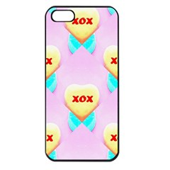 Pastel Heart Apple iPhone 5 Seamless Case (Black)