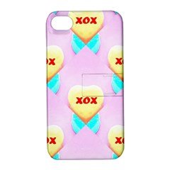 Pastel Heart Apple Iphone 4/4s Hardshell Case With Stand