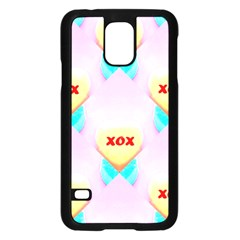 Pastel Heart Samsung Galaxy S5 Case (black)