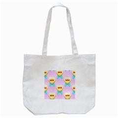 Pastel Heart Tote Bag (white)