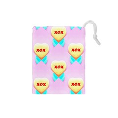 Pastel Heart Drawstring Pouches (Small)