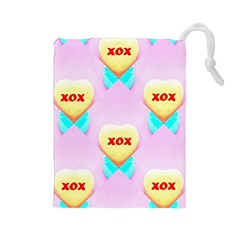 Pastel Heart Drawstring Pouches (large)