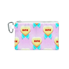 Pastel Heart Canvas Cosmetic Bag (s)