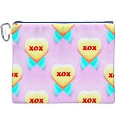 Pastel Heart Canvas Cosmetic Bag (xxxl)