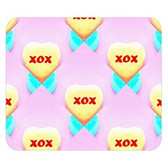 Pastel Heart Double Sided Flano Blanket (Small)