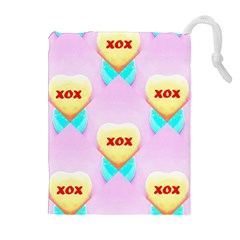 Pastel Heart Drawstring Pouches (Extra Large)