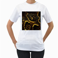 Pattern Skins Snakes Women s T-Shirt (White) (Two Sided)