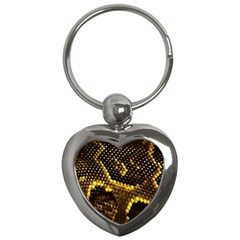 Pattern Skins Snakes Key Chains (heart)