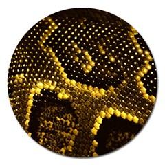 Pattern Skins Snakes Magnet 5  (Round)