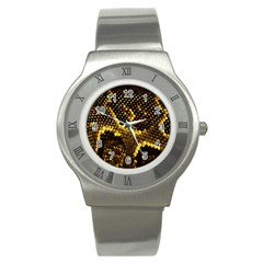 Pattern Skins Snakes Stainless Steel Watch