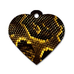 Pattern Skins Snakes Dog Tag Heart (One Side)
