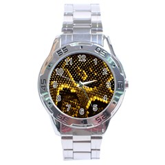 Pattern Skins Snakes Stainless Steel Analogue Watch