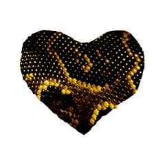 Pattern Skins Snakes Standard 16  Premium Flano Heart Shape Cushions
