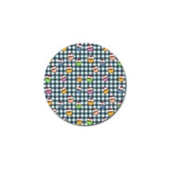 Cupcakes plaid pattern Golf Ball Marker (4 pack)