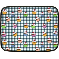 Cupcakes plaid pattern Double Sided Fleece Blanket (Mini)