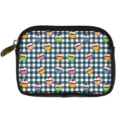 Cupcakes Plaid Pattern Digital Camera Cases