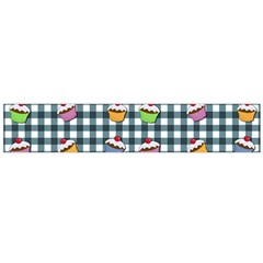 Cupcakes Plaid Pattern Flano Scarf (large)