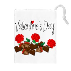 Valentine s day gift Drawstring Pouches (Extra Large)