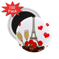 Romance in Paris 2.25  Magnets (100 pack)