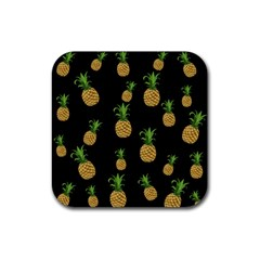 Pineapples Rubber Square Coaster (4 pack)