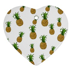 Pineapples pattern Ornament (Heart)