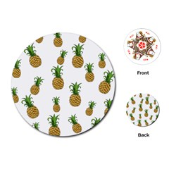 Pineapples pattern Playing Cards (Round)