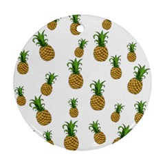 Pineapples pattern Round Ornament (Two Sides)