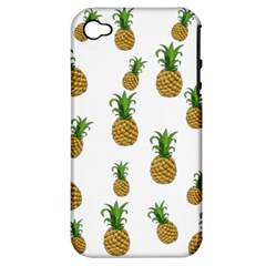 Pineapples Pattern Apple Iphone 4/4s Hardshell Case (pc+silicone)
