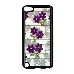 Purple Vintage Flowers Apple Ipod Touch 5 Case (black)
