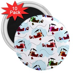 Airplanes Pattern 3  Magnets (10 Pack)