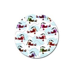Airplanes pattern Magnet 3  (Round)