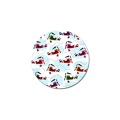 Airplanes pattern Golf Ball Marker (10 pack)