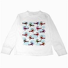 Airplanes pattern Kids Long Sleeve T-Shirts