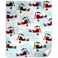 Airplanes pattern Canvas 16  x 20