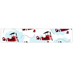 Airplanes Pattern Flano Scarf (large)