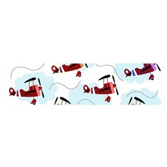 Airplanes pattern Satin Scarf (Oblong)