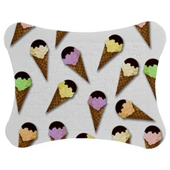 Ice cream pattern Jigsaw Puzzle Photo Stand (Bow)
