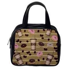 Coffee and donuts  Classic Handbags (One Side)