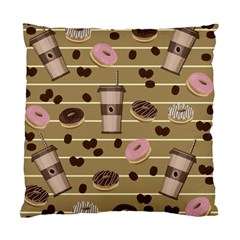 Coffee and donuts  Standard Cushion Case (Two Sides)