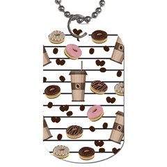Donuts and coffee pattern Dog Tag (Two Sides)