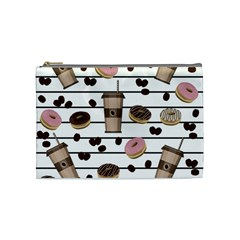 Donuts and coffee pattern Cosmetic Bag (Medium)