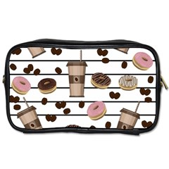 Donuts And Coffee Pattern Toiletries Bags