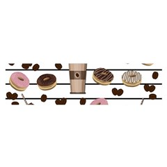 Donuts and coffee pattern Satin Scarf (Oblong)