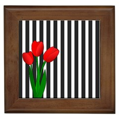 Tulips Framed Tiles