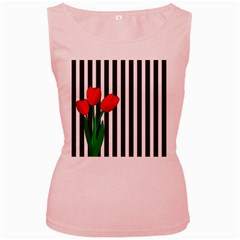 Tulips Women s Pink Tank Top