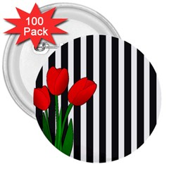 Tulips 3  Buttons (100 pack)